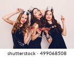 crazy party time of three ... | Shutterstock . vector #499068508