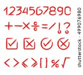 math signs and number | Shutterstock .eps vector #499076980