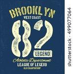 college new york typography  t... | Shutterstock .eps vector #499077064
