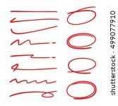 hand drawn set of circles and