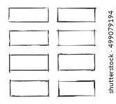 black grunge frame set | Shutterstock .eps vector #499079194