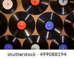 old dusty damaged vinyl disks... | Shutterstock . vector #499088194