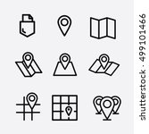 maps pin icon. navigation icons ... | Shutterstock .eps vector #499101466