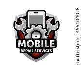 mobile repair services logo... | Shutterstock .eps vector #499104058