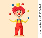 Happy Circus Clown. Cartoon...
