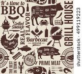 typographic vector barbecue... | Shutterstock .eps vector #499119223