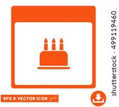 birthday cake calendar page... | Shutterstock .eps vector #499119460