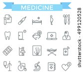 medical and health care icons ... | Shutterstock .eps vector #499120528