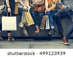 group of people shopping concept | Shutterstock . vector #499123939