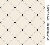 retro pattern of geometric... | Shutterstock .eps vector #499125298