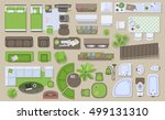 icons set of interior  top view ... | Shutterstock .eps vector #499131310