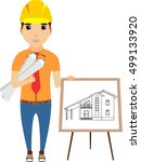 the concept of an engineer...   Shutterstock .eps vector #499133920