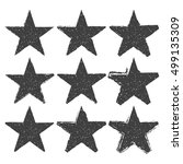 set of grunge star brush... | Shutterstock .eps vector #499135309