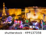 Stock photo defocused blur of las vegas nevada lit up at night 499137358