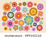 vintage flowers  part 4  | Shutterstock .eps vector #499142110