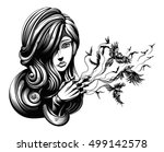 beautiful young witch from... | Shutterstock .eps vector #499142578