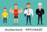 cartoon characters showing age... | Shutterstock .eps vector #499144630