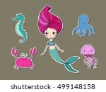 Stickers With A Mermaid ...