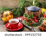 Christmas Candle Decorated Wit...