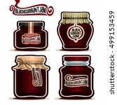 vector logo blackcurrant jam in ... | Shutterstock .eps vector #499153459