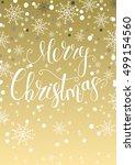 merry christmas gift card.... | Shutterstock .eps vector #499154560
