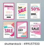 colorful eye catching social... | Shutterstock .eps vector #499157533