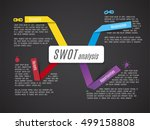 swot    strengths weaknesses... | Shutterstock .eps vector #499158808