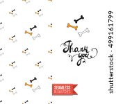 minimalistic style greeting... | Shutterstock .eps vector #499161799