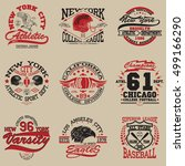 sport typography graphics logo... | Shutterstock .eps vector #499166290