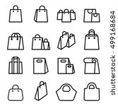 bag icon set in thin line style | Shutterstock .eps vector #499168684