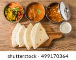 curry and chapati of india | Shutterstock . vector #499170364