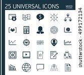 set of 25 universal editable... | Shutterstock .eps vector #499172134