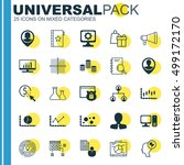 set of 25 universal editable... | Shutterstock .eps vector #499172170