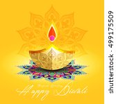 beautiful greeting card for... | Shutterstock .eps vector #499175509