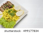 dry yellow noodle thai food on  ...