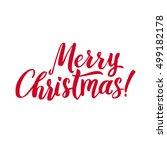 merry christmas red lettering... | Shutterstock .eps vector #499182178