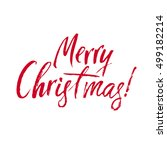 merry christmas red lettering... | Shutterstock .eps vector #499182214