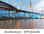 blurred lights suspension... | Shutterstock . vector #499182628