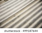 close up asbestos roof texture... | Shutterstock . vector #499187644