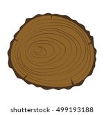 wood slice texture wooden... | Shutterstock .eps vector #499193188