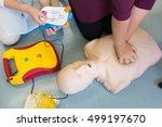 first aid cardiopulmonary...   Shutterstock . vector #499197670