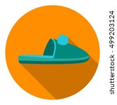 slippers icon in flat style... | Shutterstock .eps vector #499203124