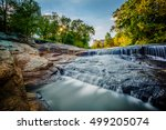 waterfall at the falls park on...   Shutterstock . vector #499205074
