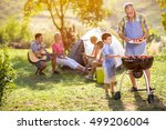grandfather and grandson at... | Shutterstock . vector #499206004