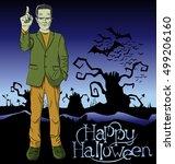 cartoon frankenstein vector...   Shutterstock .eps vector #499206160