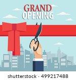 grand opening | Shutterstock .eps vector #499217488