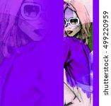 autumn style. fashion... | Shutterstock . vector #499220959