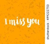 conceptual hand drawn phrase i... | Shutterstock .eps vector #499222753
