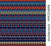 vector seamless tribal style... | Shutterstock .eps vector #499224898