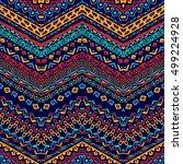 vector african style chevron... | Shutterstock .eps vector #499224928